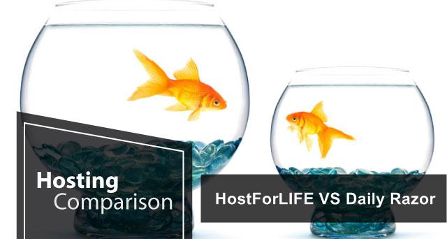HostForLIFE VS Daily Razor ASP.NET hosting comparison